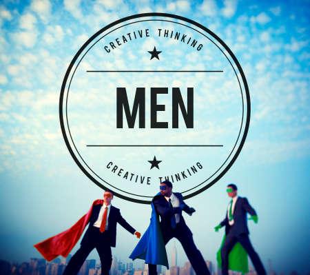 success symbol: Men Boys Gentleman People Staff Concept