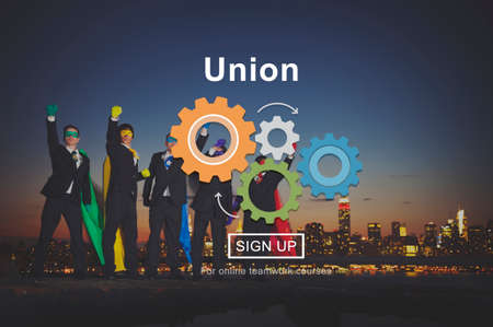 association: Union Association Members Group Social United Concept Stock Photo
