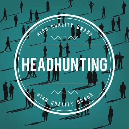 headhunting: Successful Business Agreement Headhunting Manpower Concept