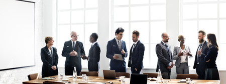 Business People Meeting Discussion Working Concept Stock Photo