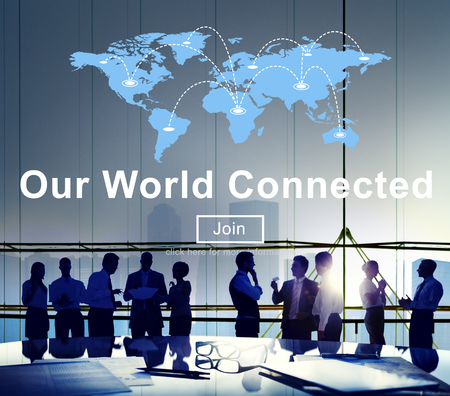 our: Our World Connected Networking Link Concept Stock Photo