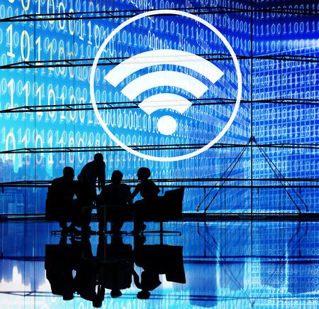 hotspot: Wifi Hotspot Internet Network Signal Wireless Digital Concept