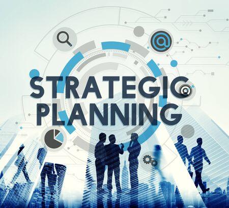 planeaci�n estrategica: Concepto Acci�n Plan de Proceso de Planificaci�n Estrat�gica Foto de archivo