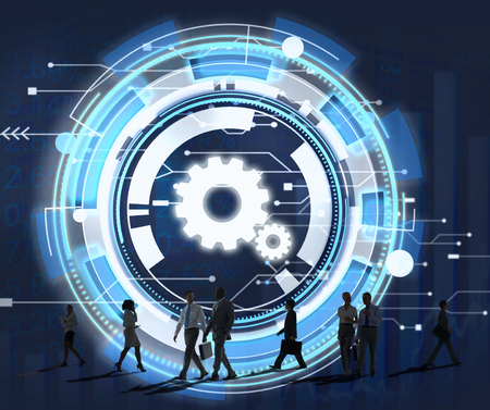 rush hour: Technology Digital Network Cog Teamwork Concept