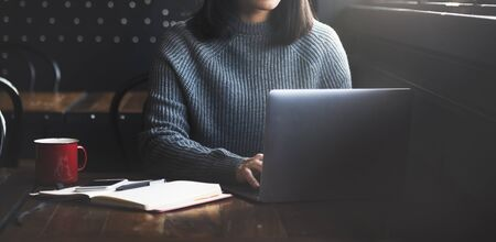 Beautiful Woman Home Office Lifestyle Concept Reklamní fotografie