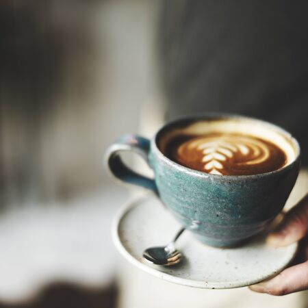capuchino: Taza de café Cappoccino Restaurante Cafetería Concept