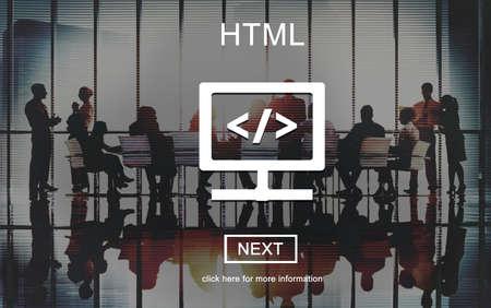 html: HTML Online Website Technology Online Programming Concept