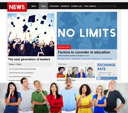 no limits: No Limits Positive Thinking Freedom Success Concept