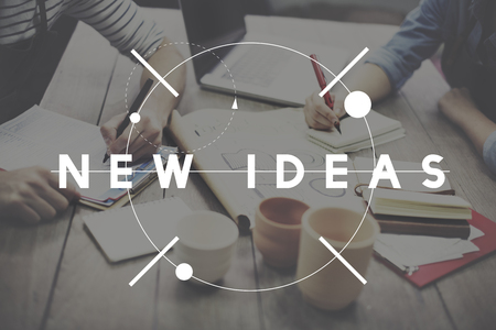 workshop: New Ideas Launch New Business Concept Stock Photo