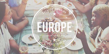 western european ethnicity: Europe EU Euro European Union West Continent Concept