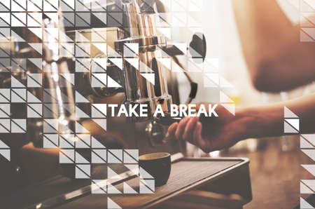 take a break: Take A Break Time Relaxation Lifestyle Concept Stock Photo