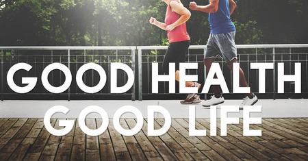 buena salud: Buena Salud Buena Vida Estilo de Vida Nutrición Concepto Ejercicio