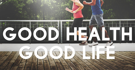 healthy choices: Good Health Good Life Lifestyle Nutrition Exercise Concept