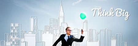 think big: Think Big Faith Attitude Inspiration Optimism Concept