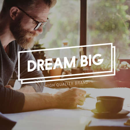 Dream Big Believe Aspiration Dreaming Concept Stock Photo