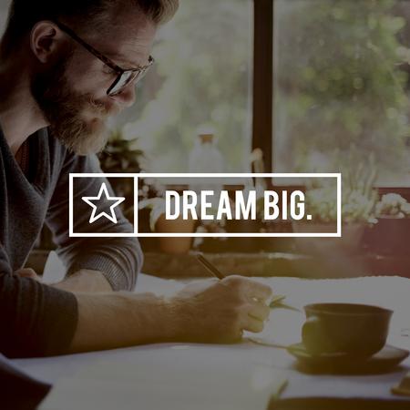 dream planning: Dream Big Believe Aspiration Dreaming Concept Stock Photo