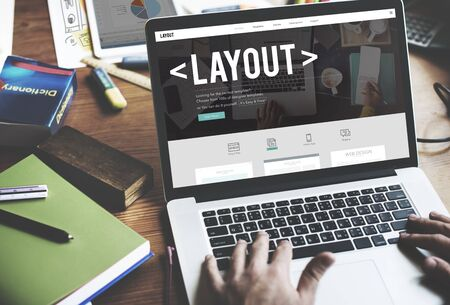 editing: Layout Editing Page Responsive Design Concept