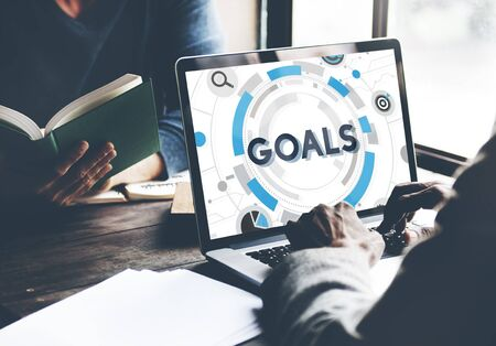 Goals Mission Target Hud Aspiration Concept Stockfoto - 54816118