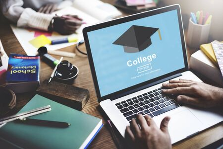 higher learning: College Education Learning Institution Shcool Concept