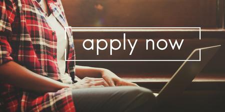 Apply Now Recruitment Registar Opportunity Concept Archivio Fotografico