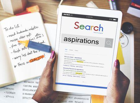 aspirations: Aspirations Ambition Goals Dream Concept Stock Photo