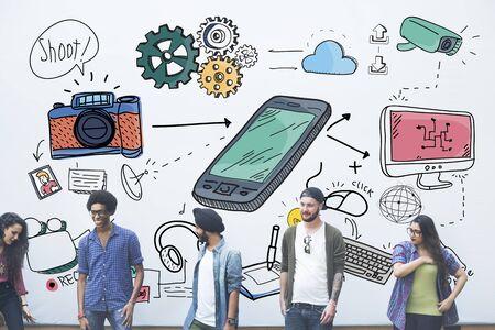 Social Media Connection Phone Online Concept