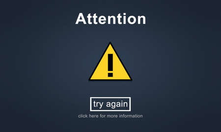 Attention Notice Warning Scrutiny Error Concept Stock Photo