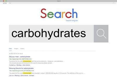 carbohydrates: Carbohydrates Food and Beverage Healthy Eating Concept