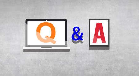 control de calidad: Preguntas y Respuestas Preguntas y Respuestas Respuesta concepto de la solución Foto de archivo