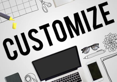 customize: Customize Modify Adjust Change Concept