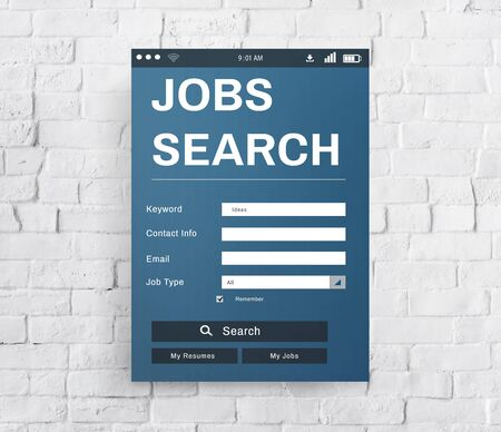 employing: Job Search Career Recruitment Employment Occupation Concept
