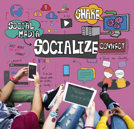 socialize: Socialize Community Connection Fellowship Group Concept