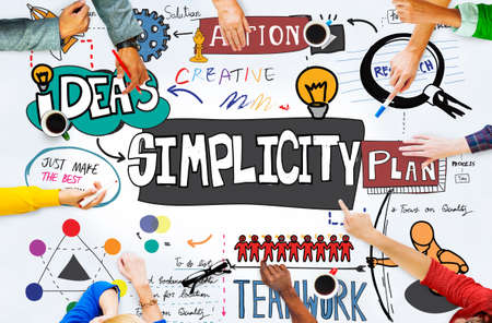 and simplicity: Simplicity Minimal Normal Contemporary Simpleness Concept Stock Photo