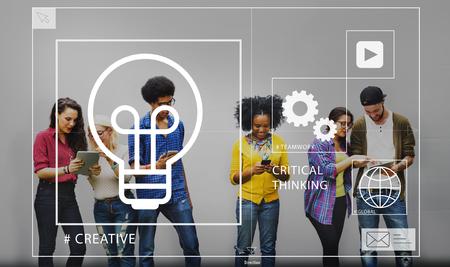 critical thinking: Ideas Creative Creativity Critical Thinking Inovation Concept