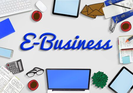 ebusiness: E-Business Marketing Networking Internet Commerce Concept