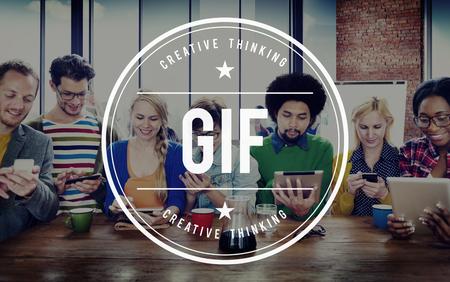 GIF Animated Images Graphics Interchange Format Concept Zdjęcie Seryjne