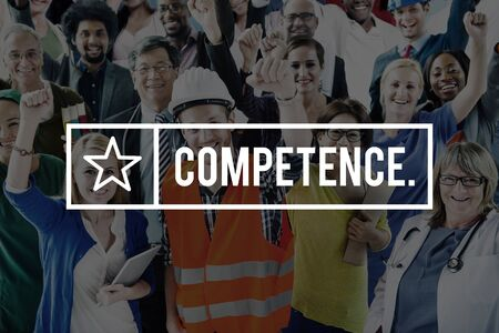 skill: Competence Ability Skill Talent Expertise Concept Stock Photo