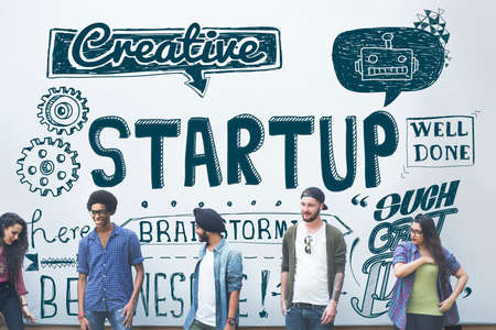 expressing artistic vision: Startup Business Launch New Business Concept