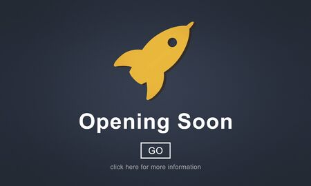 initiate: Opening Soon Launch Welcome Advertising Commercial Concept