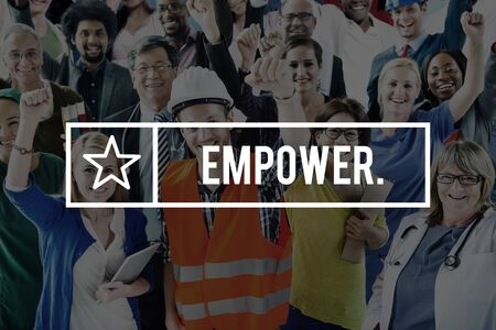 liberate: Empowerment Empower Enable Authorize Liberate Concept