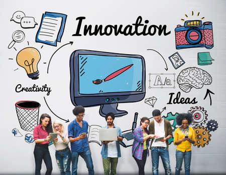 futurism: Innovation Futurism Creative Design Development Concept