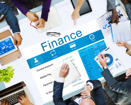 Business planning with finance concept