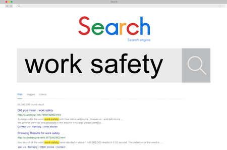 careful: Work Safety Protection Caution Careful Health Danger Concept