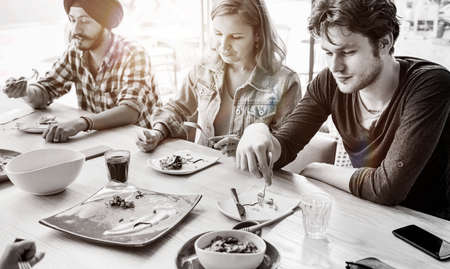 sharing food: Delicious Edible Leisure Healthy Sharing Food Meal Concept Stock Photo