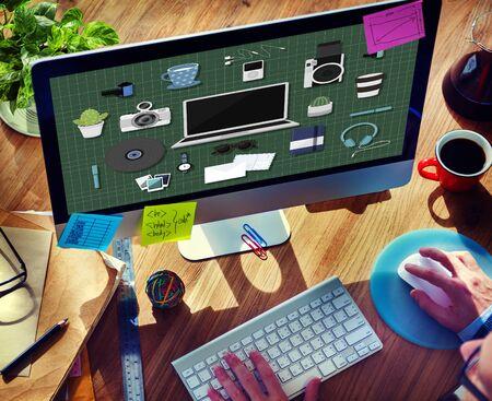 gadget: Technology Gadget Media Icons Concept