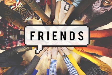 gang: Amigos amistad amistoso Concepto Grupo cuadrilla Foto de archivo