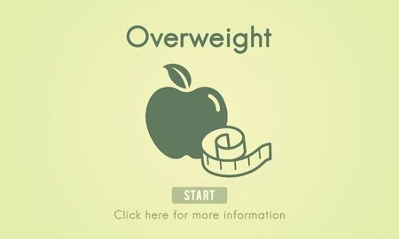 unhealthy: Overweight Diet Eating Disorder Unhealthy Diabetes Fat Concept