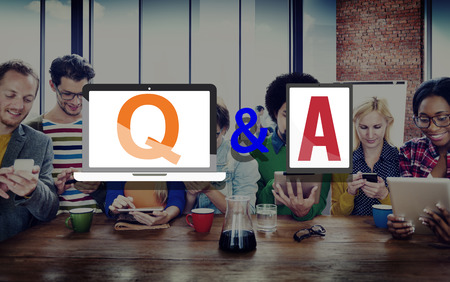 response: Q&A Questions and Answers Response Solution Concept Stock Photo