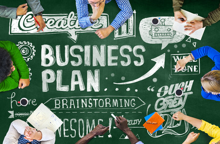 Business Plan Vision Strategy Planning Direction Concept Stock Photo