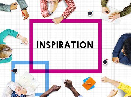inspiring: Inspiration Imagination Motivation Encourage Inspiring Concept